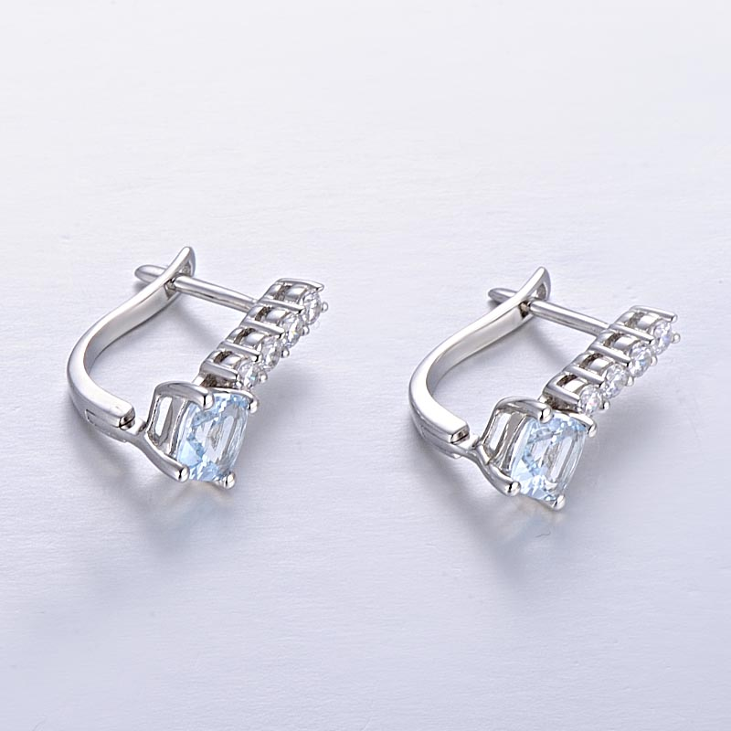 silver sky-blue cz-diamond earrings-E301105BKZSL925-SV3