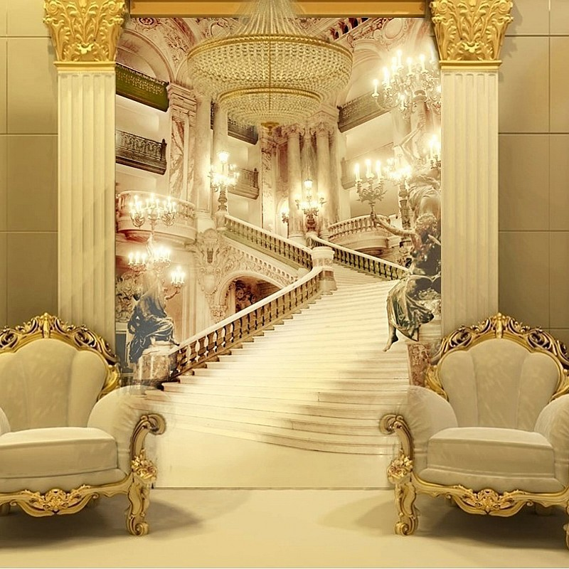 3d murals living room entrance wallpaper wedding photography background  wall painting palace stairsl photo wallpaper Beibehang blue earth cosmic sky zenith living room ceiling murals 3d wallpaper the living room bedroom study paper 3d wallpaper
