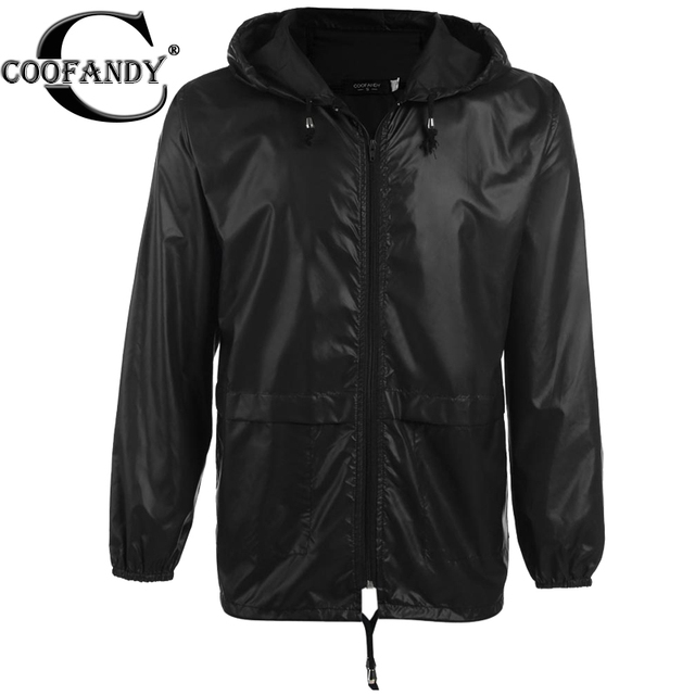 8fc32a539 US $15.14 39% OFF|COOFANDY Men waterproof Jacket Lightweight Hooded  Raincoat Autumn Thin Coat Navy Blue, Gray, Black US size S,M,L,XL-in  Jackets from ...