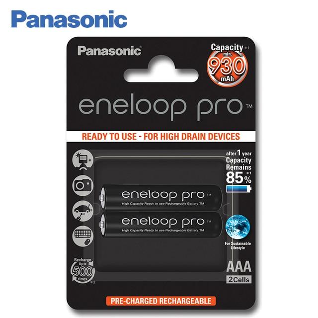 Panasonic BK-4HCDE/2BE Аккумуляторы eneloop pro 930 мАч R03 AAA BL2.Топовая модель высокой емкости и производительности для активных пользователей мощной техники (вспышка для фотокамеры, радиоуправляемые игрушки и пр.)