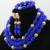 2017 Azul Nigeriano Boda Perlas Africanas Joyería Conjunto Dubai Mujeres de Moda Costume Set Envío Libre WD062