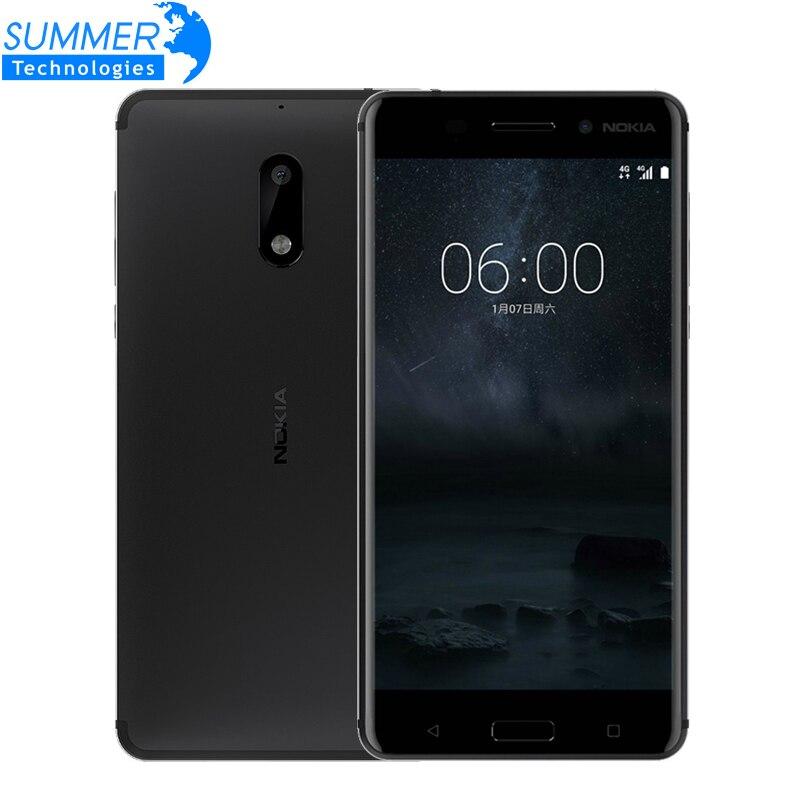 Цена за Оригинальный nokia 6 мобильный телефон окта ядро 4 г ram 64 г rom android 7.0 dual sim 5.5 mah ''3000 4 г lte смартфон