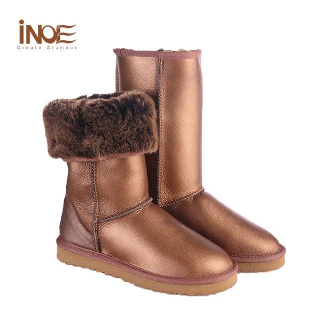 Aliexpress.com : Buy Plus Size Women Boots Gold Fur Lined Cheap ...