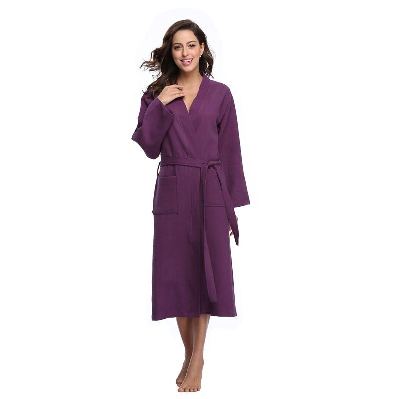 Colorfulkoala women bath robe dress homewear kimono waffle for Bathroom dress