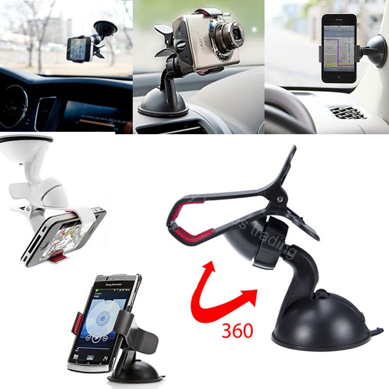 360 Degree Rotating Universal Car Phone Windshield Dashboard Desktop Suction Cup Stand Holder Mount 9cm MAX Width Bracket  Лобовое стекло