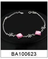 рождественский подарок оптовая продажа Донецкий ювелирный женская браслеты и браслеты 925 стерлингового серебра сладко-сердце леди браслет # ba100601
