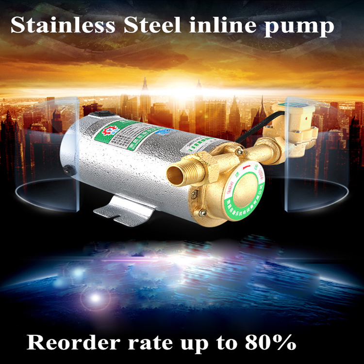 ФОТО fair price 2 inch inline water booster pump use japanese imported bearing booster pump 220v
