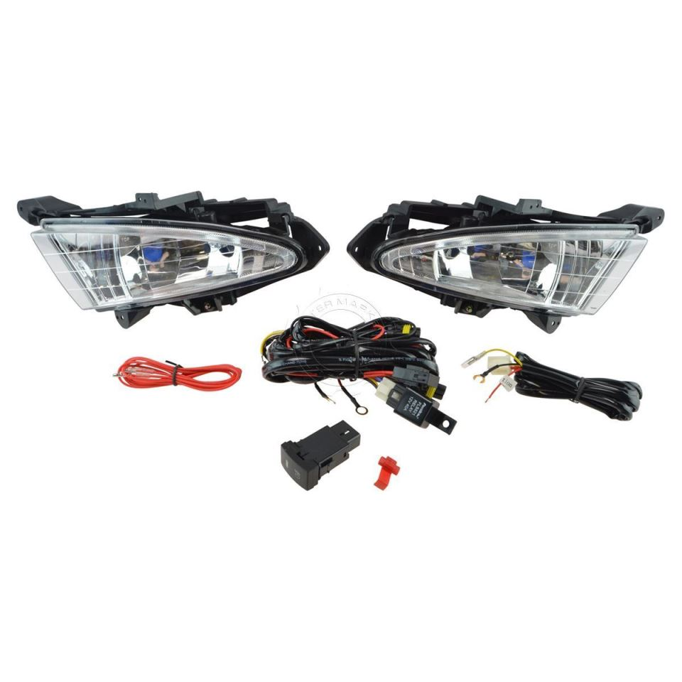 Fog light kit for Hyundai Elantra HD (2007-2010) with wires and button (DLAA HY-261) Russia Stock