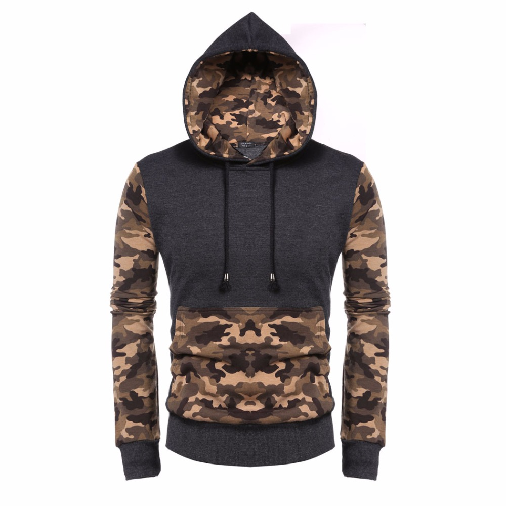 COOFANDY Men Leopard Sweatshirt Fashion Autumn Winter Long Sleeve Contrast Color Print Pullover Hooded Hoodies US