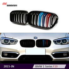 f21 f20 lci replacement ABS kidney M tri-color racing grille car styling for bmw 1 series f20 f21 clips 116d 118i 120d M135i