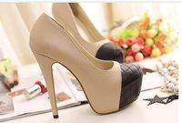 бесплатная доставка, новый осень уплотнения металлические заклепки на платформы тонкие Cable женская обувь, женская туфли на высоком парень, парень женщины-клуб, леди кабель