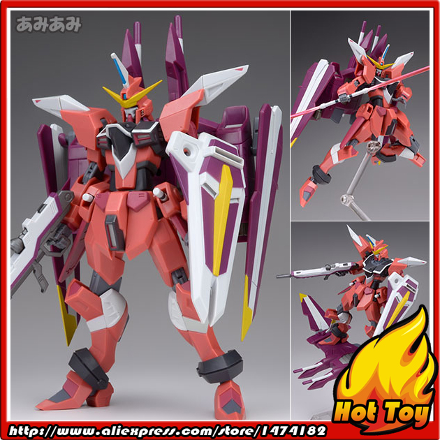 "100% Original BANDAI Tamashii Nations Robot Spirits No.185 <font><b>Action</b></font> <font><b>Figure</b></font> - Justice Gundam from ""Mobile Suit Gundam SEED"""