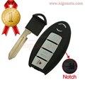 Caso chave 4 botão para Nissan chave inteligente shell KR55WK48903 (com entalhe)