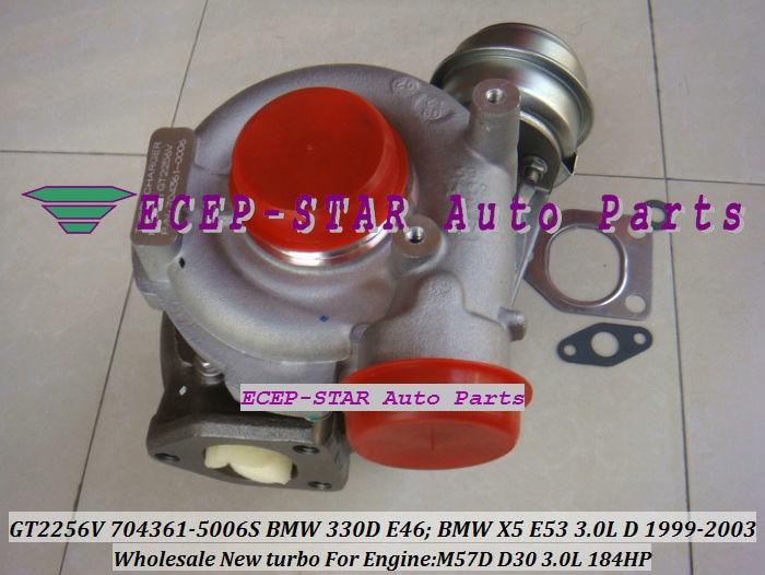GT2256V 704361-5006S TURBINE Turbo Fit For bmw 330D E46 X5 3.0D E53,EngineM57D D30 3.0L 184HP 1999-2003 Turbocharger (5)