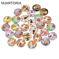 MJARTORIA Glass Cabochon 20mm Round Supplies for Jewelry Accessories Fashion Accessories Materials for DIY Jewelry Making 20PCs