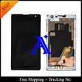 Frete Grátis 100% testado Original Para LCD Nokia 1020 lumia N1020 Display LCD Assemlby Digitador Da Tela Com Frame-Preto