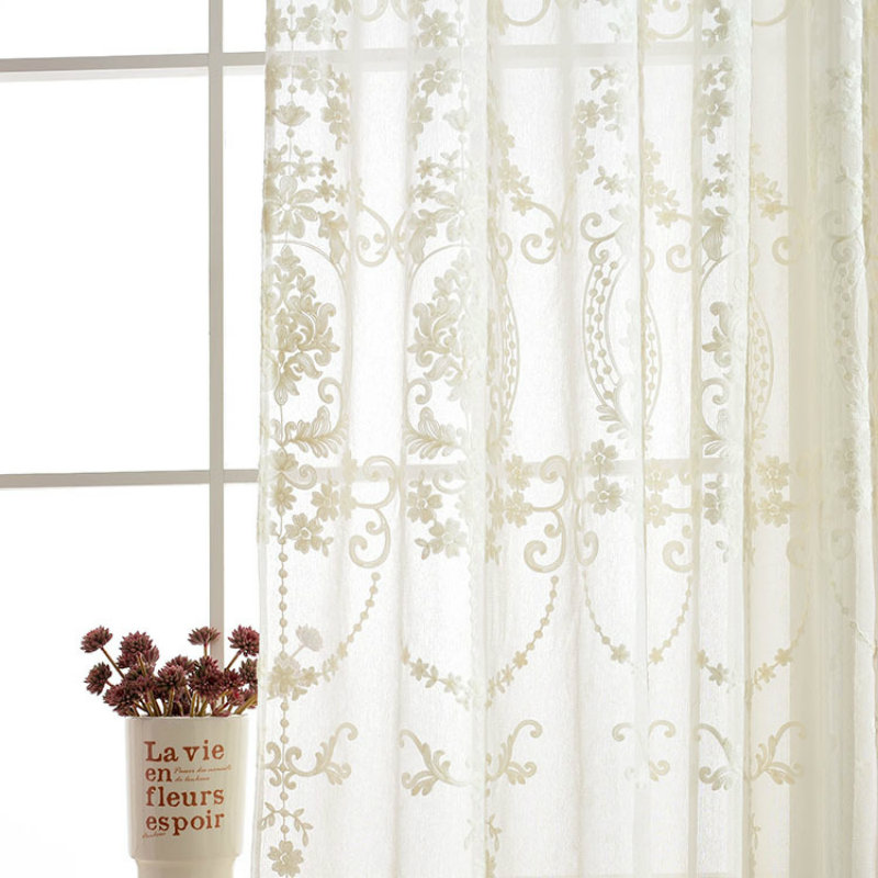 New Modern Cotton And Linen Chiffon Embroidery Curtains Embroidered Living Room Windows Handle Balconies In From Home Garden On