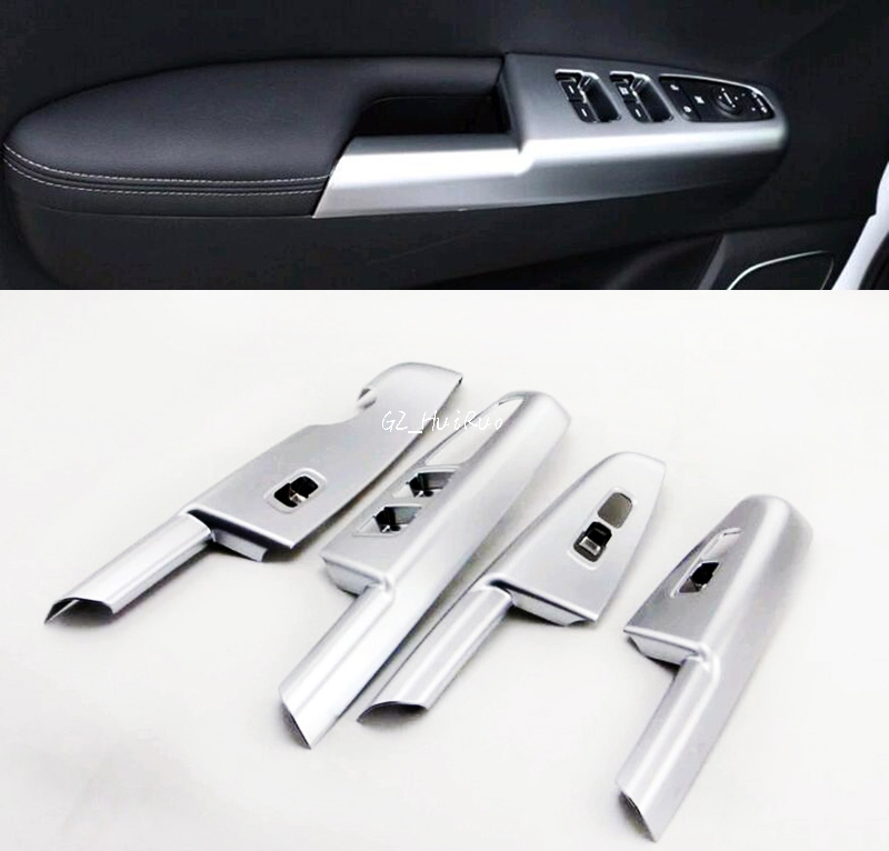 Car Styling Interior Door Armrest Window Lift Cover Trim 4pcs for Kia Sportage 2016 2017