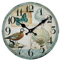021010 Rural Mediterranean retro creative contracted sitting room adornment mute bracket clock