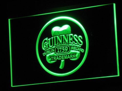 a111 Guinness Beer Dublin Ireland Bar LED Neon Sign with On Off Switch 7 Colors to