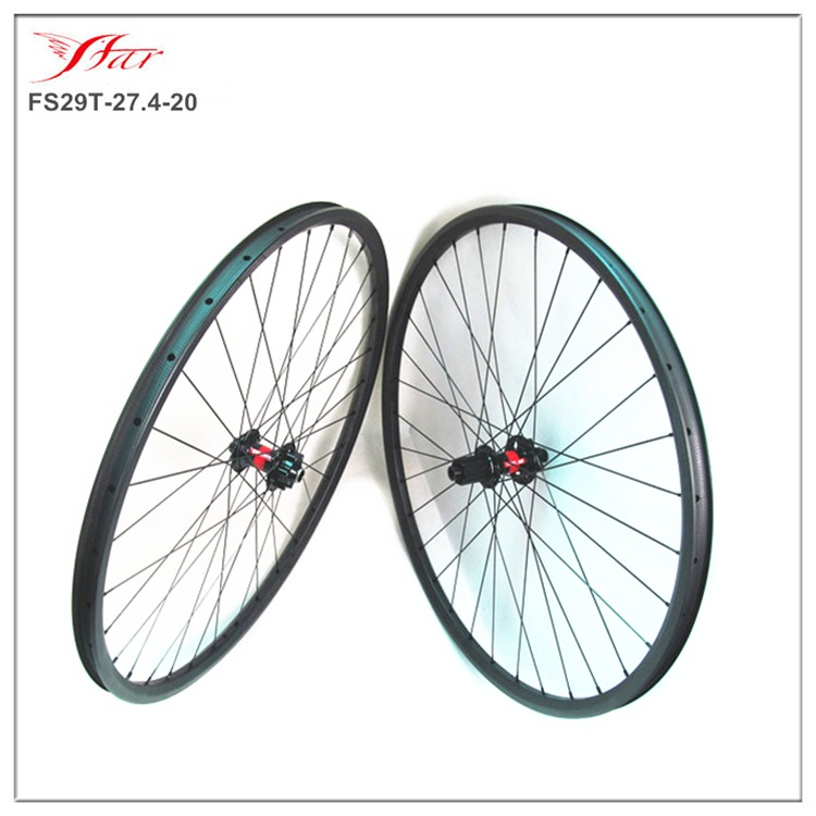 China carbon mountain bike wheels with DT 240s IS hubs , Farsports 29er carbon clincher mtb wheels with HOOK 27.4mm width