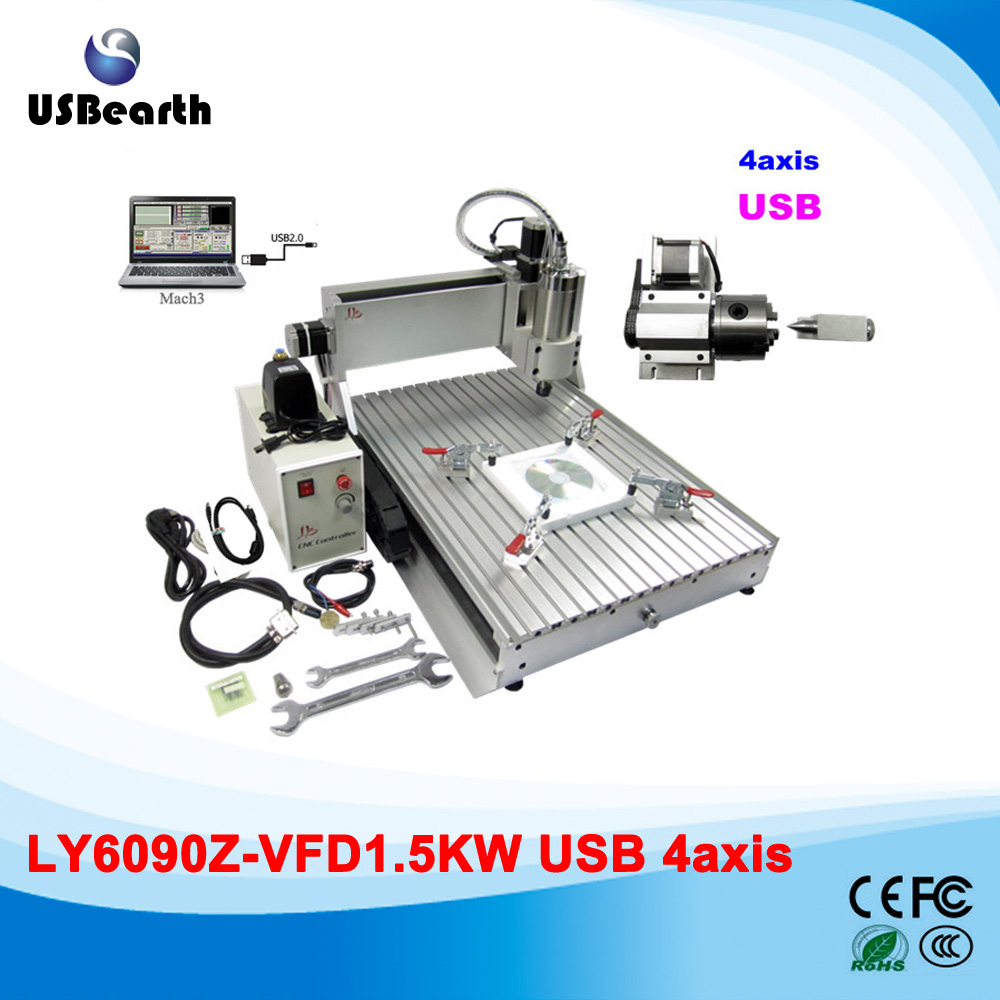 Russia free tax mini cnc plate board pcb drilling machine 6090, hobby CNC Router DT0609,mini cnc engraving with usb port 6040z vfd 2 2kw usb 4axis 6040 cnc milling machine mini cnc router with usb port russia free tax
