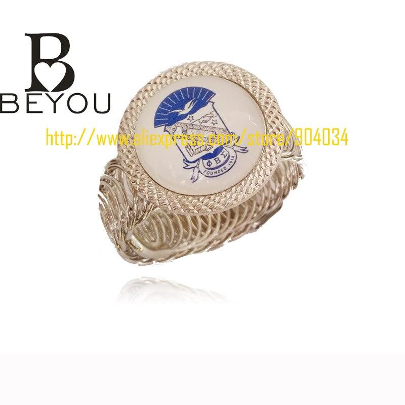 greek group brother Phi Beta Sigma Fraternity cuff bangle Jewelry