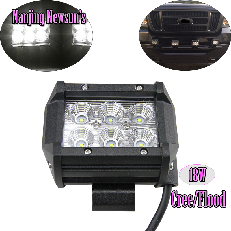 18W Cree Chips LED Work Light Lamp Off Road ATV 4x4