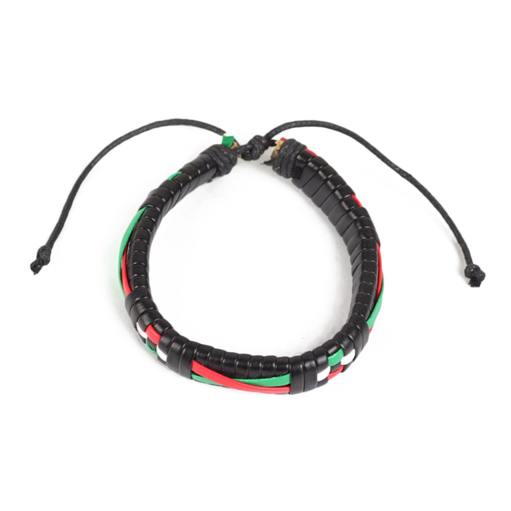 2017 1pcs Multi Color Hand Braided Bracelet Free Style Leather Adjustable Bracelets