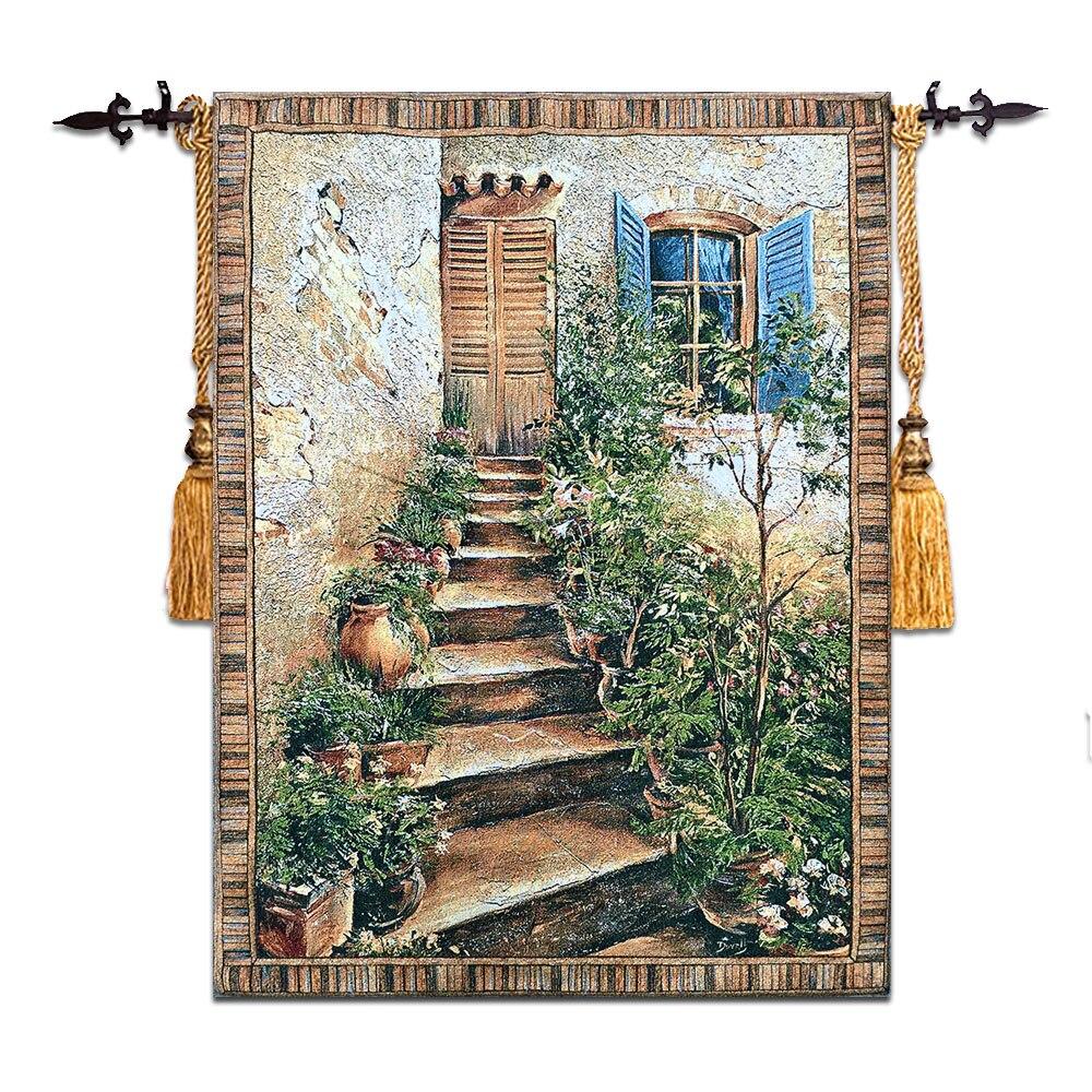 Бельгии жаккарда Гобелен европейские картины гостиная росписи ткани art тосканский усадьба 90X118 см GT-TSKN109