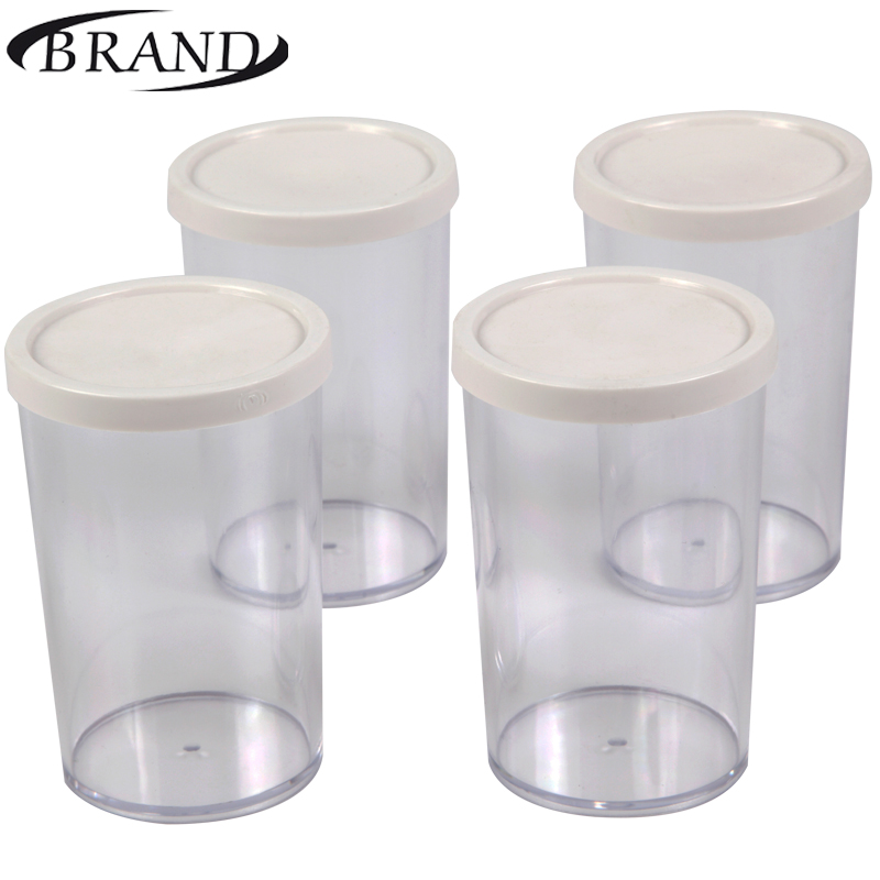 Glasses cups 4002 for Yogurt maker, 200 ml*4 pcs, plastic cover stylish multifunction 15 pcs plastic handle nylon makeup brushes set
