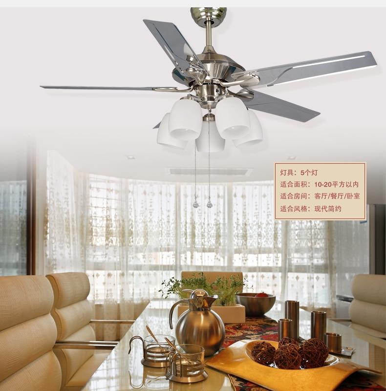 52inch leaves fan light chandelier dining room ceiling chandelier ...