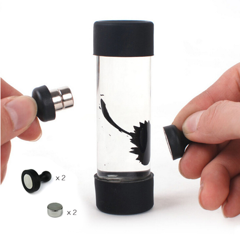 Cylindrical Ferrofluid in a Bottle Magnetic Liquid Display Phone Strap Anti Stress Decompression Novelty Science Xmas Gift Toy