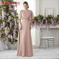 Elegante Longo Mãe dos Vestidos de Noiva 2017 Plus Size a linha de Chiffon de Cristal Sash Mulheres Do Partido Evening Formal Vestidos Feitos Sob Encomenda feito
