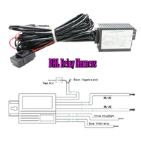 Car LED DRL Controller 12V LED Daytime Running Light DRL Relay Harness Kit Automatic On Off