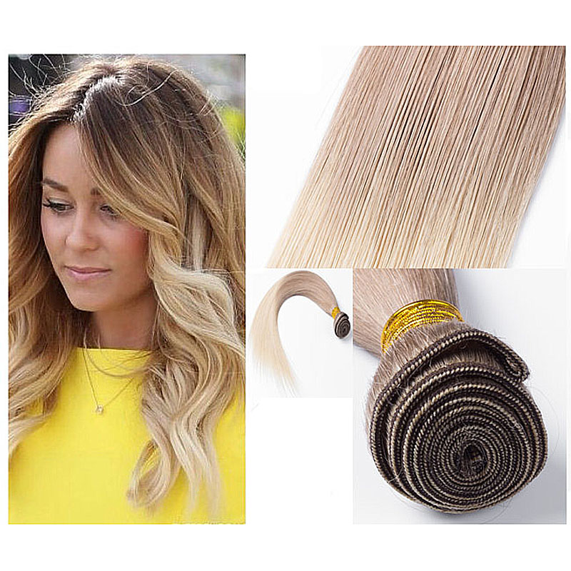 Full Shine Brazilian Weave Hair 6 613 Ombre Color Virgin Hair Weave Bundles Ombre Straight 100g