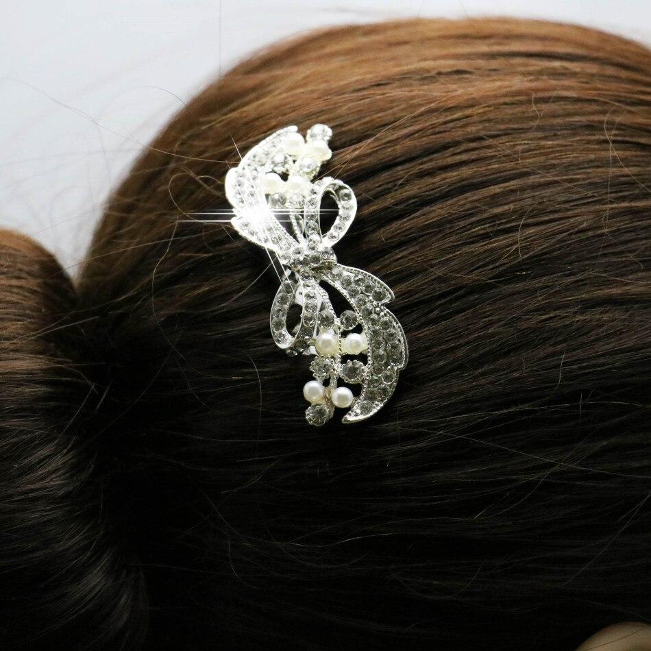 Trendy bridal headpiece - Trendy Hairwear Wedding Hair Accessories Bride Bridal Floral Hair Comb Head Pieces Hair Jewelry Rhinestone Crystals
