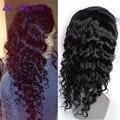 Nueva ali moda 8a Malasio suelta la onda glueless pelucas llenas del cordón en bruto virgen del pelo del frente del cordón pelucas de cabello humano virginal Malasio pelo