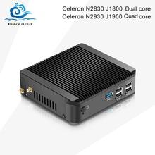 Мини-ПК Celeron N2930 J1900 Quad Core Win 7 Celeron N2830 J1800 двухъядерный Окна 10 мини настольный компьютер DDR3 Оперативная память HTPC HDMI