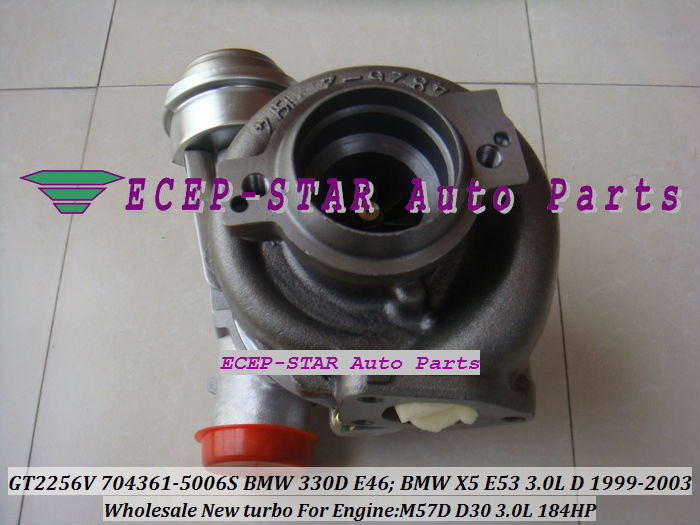 GT2256V 704361-5006S TURBINE Turbo Fit For bmw 330D E46 X5 3.0D E53,EngineM57D D30 3.0L 184HP 1999-2003 Turbocharger (4)