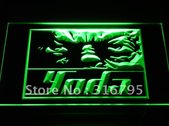 g021 Yoda Star Wars Home Decor Fans LED Neon Sign with On/Off Switch 7 Colors to choose