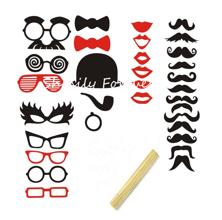 New Arrival Photo Booth Props X 32 Wedding Mustache Top Hat Lips Gles Vintage Prop Sticks On Aliexpress Alibaba Group