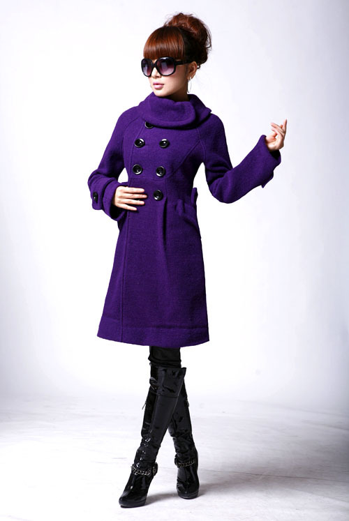 Redbluepurpleyellow Womans Coatgraceful Long Winter Coats In