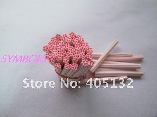 C-05 100 шт 5 мм милый розовый цветок из полимерной глины тростника причудливый дизайн ногтей полимерная глина тростника