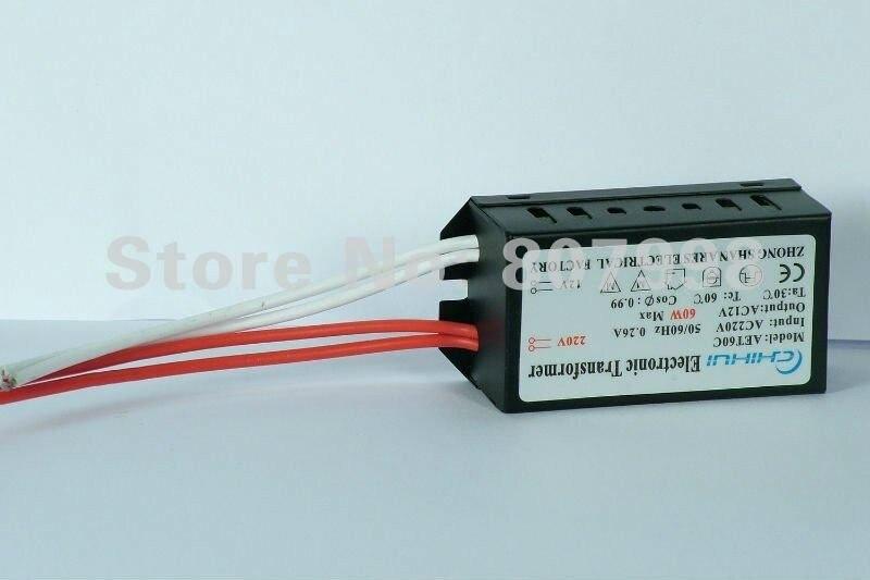 5 шт./партия, высокое качество, галогенная лампа Электронный трансформатор 60 Вт AC 12 В 220 В
