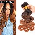 7A Malasia Virgin Hair Body Wave 3 Bundles Barato Ombre Humano Armadura del pelo Mojado y Ondulado Onda Del Cuerpo de Rosa Productos Para el Cabello Mocha OB122