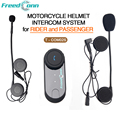 FreedConn Interfono Casco de Moto Impermeable Intercomunicador Bluetooth Headset Casco para el Conductor y el Pasajero de pasajeros