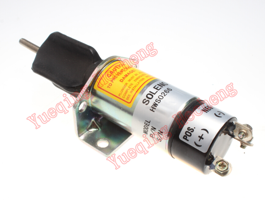 New SHUT OFF STOP SOLENOID VALVE FOR DIESEL ENGINE SA-5171-12 for cummins generator shutdown shut off stop solenoid valve 6cta 8 3l 24v 3906776