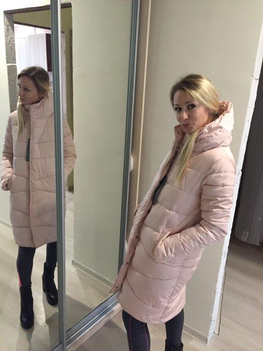 Удлиненная куртка пуховик с Алиэкспресс