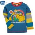 Una pieza al por menor nova kids boy camiseta manga llena de la camiseta niños chicos ropa niños ropa otoño niño de manga larga camiseta A4269
